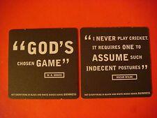 GUINNESS Beer Coaster: God Chosen Game W.G. Grace St Jons Gate Dublin Ireland