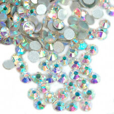 100 STRASS RONDS Cristal Haute Qualité Bijou ongle Nail Art Cristal AB 1,4 mm
