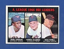 1967 Topps # 241 A.L. R.B.I. Leaders - F. Robinson / Killebrew / Powell - EX++