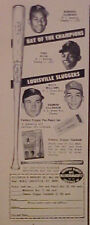 1965 Roberto Clemente~Pirates Harmon Killebrew~Twins Baseball Louisville Bats AD