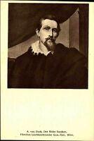 Künstlerkarte Kunstverlag Wolfrum Wien ~1910 VAN DYCK Der Maler Snyders Porträt