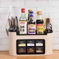 4 in 1 Kitchen Pantry Storage Rack Spice Cabinet Organizer Knife Shelf Holder
