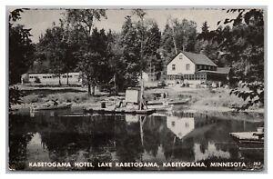 Postcard MN Kabetogama Minnesota Kabetogama Hotel Lake Kabetogama P20