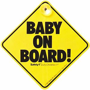 Safety 1st Baby On Board Suction Cup Car Windscreen / Window / Car Panel Sign