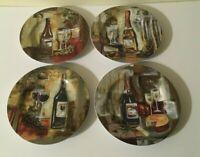 (4) Sakura Silva Vassileva CLASSICO Wine 8 1/4 Salad Plates