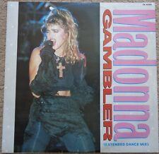 Madonna - Gambler original 1985 12 inch vinyl single