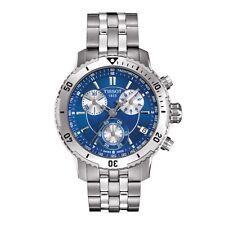 Tissot PRS 200 Chronograph Blue Dial Quartz Sport Mens Watch T0674171104100