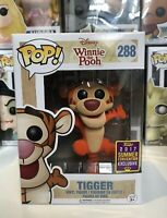 ⭐️Disney Winnie the Pooh- Tigger Flocked SDCC Exclusive Funko Pop + Protector⭐