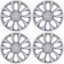 "4-Pack 16"" Silver Wheel Rim Covers Snap-On Hub Caps fit R16 Tire Car Truck SUV"