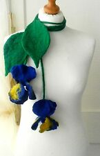 Hand Felted, Wool Jewelry -ART necklace/ scarf/