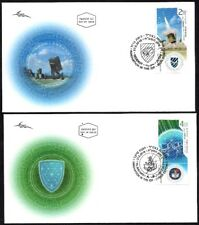ISRAEL 2018 - INNOVATIONS IN THE IDF - TWO STAMPS WITH TABS ON TWO FDC's