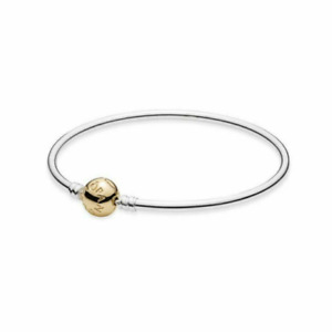 NEW Genuine PANDORA Bangle 590718 Solid 14ct Gold Clasp New With Pouch RPP $499