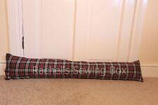 Tartan Fabric Draught Excluder Traditional Design Sausage Dog Draft Winter Door