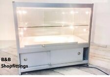GLASS SHOWCASE DISPLAY COUNTER LOCK CABINET SPOTLIGHTS & PLUG FULLY ASSEMBLED!!!