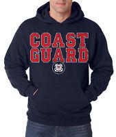 COAST GUARD HOODIE US Hooded Sweatshirt Military United States USCG Army Semper