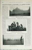 1902 Imprimé Présentation De Couleurs Irlandais Gardes Inspection Prince Galles