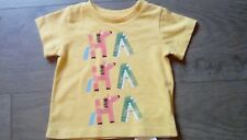 M&S Baby Girls Cotton  Yellow print t-shirt top short sleeved age 0-3 months **