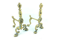 Vintage Brass Andiron Firedog Fireplace Accessories se15