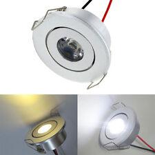 1W White/Warm LED Ceiling Down Light Recessed Cabinet lights 12~24V/ 85~265V
