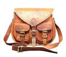 Women Vintage Brown Leather Messenger Cross Body Bag Handmade Purse
