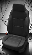 2019-20 Silverado Double Cab WT Custom KATZKIN Leather Seat Covers Kit Black