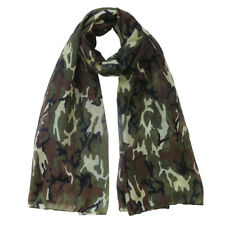 Military Camouflage Camo Print Ladies Scarf Shawl Wrap Lightweight