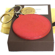 Auth LOUIS VUITTON Vernis Porte Cles Rond Trunks   Bags Key Ring Bag Charm  Fuchs a8678550f10