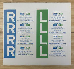72 Right and Left Indicator Labels RL Stickers Bausch+Lomb