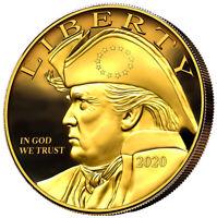 Patriot Trump Eagle 24K Gilded Gold Coin