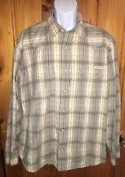 Lucky Brand 100% Cotton Plaid Pearl Snap Cowboy Western Rodeo Shirt Sz XL EUC