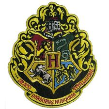 """Harry Potter The 4 Houses of Hogwarts Crest 4.5"""" Logo Embroidery Applique Patch"""