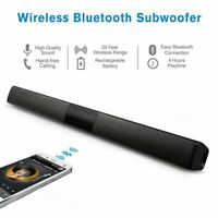 Wireless Bluetooth Soundbar Speaker Home Theater Subwoofer w/ RCA Line