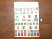 Post WWI GERMANY STAMP COLLECTION 50 DIFFERENT UNUSED German