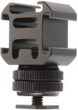 Triple Head Cold Hot Shoe Mount Adapter for Studio Flash Bracket Video Camera