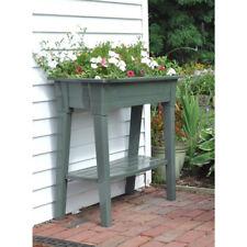 Raised Patio Planter Box Tall Flower Bed Garden Outdoor Decor Deck Porch Green