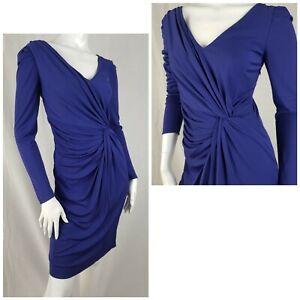 Coast Dress Size 10 Lavender Blue Twist Front Jersey Evening Party Cocktail