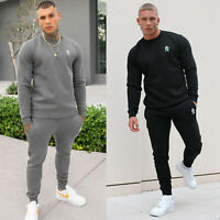 Gym King Mens Fleece Crew Full Tracksuit Set Designer Basis Sweatshirt Joggers