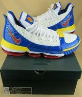Nike LeBron Size 17 NEW XVI 16 SB SUPERBRON SUPERMAN WHITE RED BLUE CD2451-100