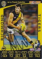 Signed Trent Cotchin Richmond Tigers Autograph on 2012 Teamcoach B&F Holo Card