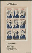 US Stamps Ameripex Presidents Miniature Sheets 2216-2219 a1599 Complete Set of 4