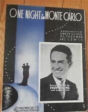 One Night in Monte Carlo Fred Waring Sheet Music 1935