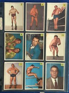 1955-56 PARKHURST WRESTLING  *LOT OF 62 CARDS*  VG+     57567