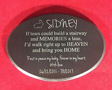 Granite Pet Memorial Plaque Oval personalised engraved
