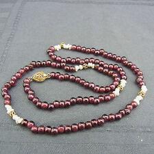 schöne alte Kette Perlen Turmalin oder Granat , Perlen wohl China