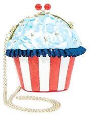 NWT  Betsey Johnson Baked in the USA Cupcake Crossbody Purse Bag