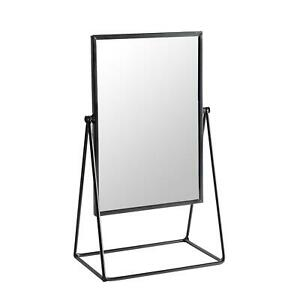 Dressing Table Vanity Mirror Free Standing Tabletop Makeup Cosmetic 22cm Black