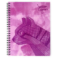 Monster Stationery - Joshua Green A4 Lined Notebook - Made in Uk - Wild Cat