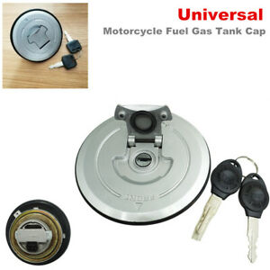 Universal Modification Motorcycle Fuel Gas Tank Cap Cover Lock w/ Key Anti-theft
