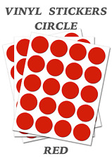 1000 Round Red Circles - Self Adhesive Waterproof Vinyl Labels  size 25mm