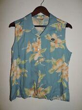 Tori Richard  Womans  Floral Rayon Sleeveless Blouse Shirt Size 10 Princeville